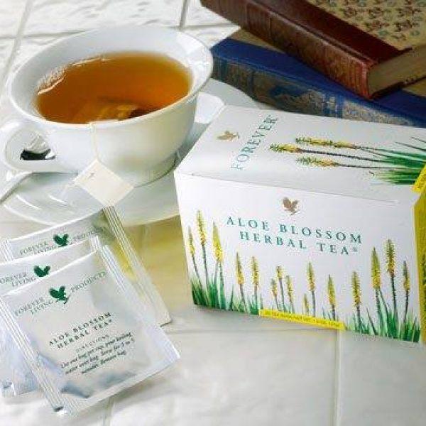 תה צמחים תערובת של עלים – Aloe Blossom Herbal Tea   *אין במלאי *